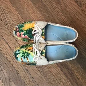 Tropical Sanuk Slip-Ons